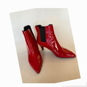 Red Patent Bootie Size 5.5